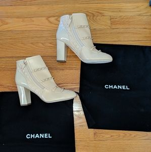 CHANEL Beige Short Boots G33028